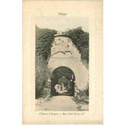 carte postale ancienne 76 DIEPPE. Château d'Arques bas-relief Henri IV