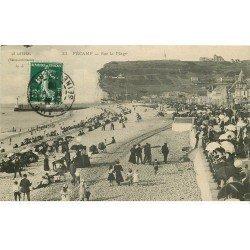 carte postale ancienne 76 FECAMP. Sur la Plage 1909