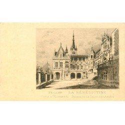 carte postale ancienne 76 FECAMP. La Bénédictine Cour Honneur Salle Abbés