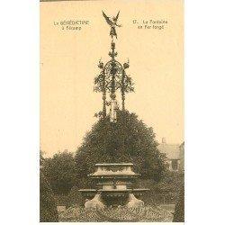 carte postale ancienne 76 FECAMP. La Bénédictine Fontaine Fer forgé