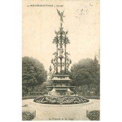 carte postale ancienne 76 FECAMP. Fontaine Fer Forgé 1909