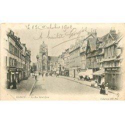 carte postale ancienne 76 ELBEUF. Rue Saint-Jean 1902