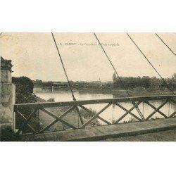 carte postale ancienne 76 ELBEUF. Le Pont et Panorama 1927