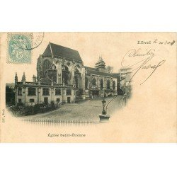 carte postale ancienne 76 ELBEUF. Eglise Saint-Etienne 1908