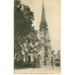 carte postale ancienne 76 ELBEUF. Eglise Immaculée Conception 1916