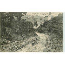 carte postale ancienne 76 ELBEUF. Cavée des Ecameaux Orage de 1908