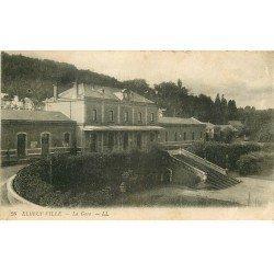 carte postale ancienne 76 ELBEUF. La Gare 1918