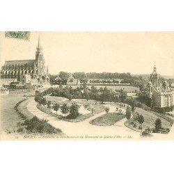 carte postale ancienne 76 ROUEN. Bonsecours Monument Jeanne d'Arc 1907
