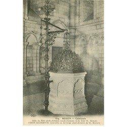 carte postale ancienne 76 ROUEN. Cathédrale Fonds Baptismaux