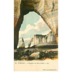 carte postale ancienne 76 ETRETAT. Aiguille Porte Aval 1917