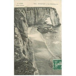 carte postale ancienne 76 ETRETAT. La Maneporte 1907