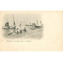 carte postale ancienne 76 ETRETAT. Les Bains de Mer