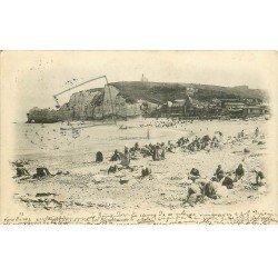 carte postale ancienne 76 ETRETAT. Les Blanchisseuses 1905