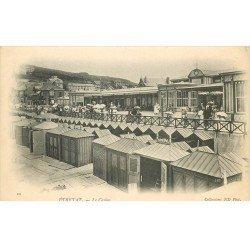 carte postale ancienne 76 ETRETAT. Casino et Cabines de bains