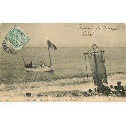 carte postale ancienne 76 ETRETAT. Bénédiction de la Mer Jour Ascension. Très fine plissure