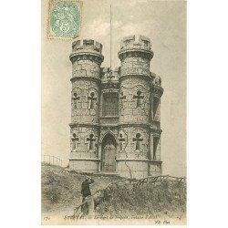 carte postale ancienne 76 ETRETAT. Fort de Fréfossé Falaise Aval animation