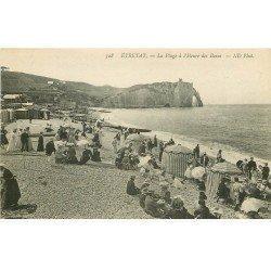 carte postale ancienne 76 ETRETAT. L'Heure des Bains