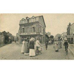 carte postale ancienne 76 ETRETAT. La Rue Monge rare et vierge