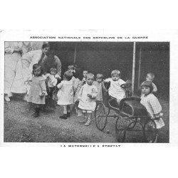 carte postale ancienne 76 ETRETAT. La Maternelle Orphelins de la Guerre. Carte fine