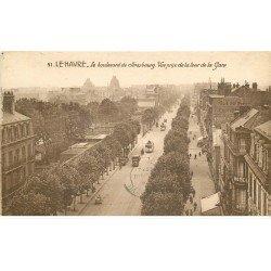 carte postale ancienne 76 ROUEN. Boulevard de Strasbourg 1904