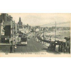 carte postale ancienne 76 ROUEN. Boulevard Albert Ier 1916