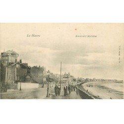 carte postale ancienne 76 ROUEN. Boulevard Maritime. Publicitaire Aux Touristes rue de Paris