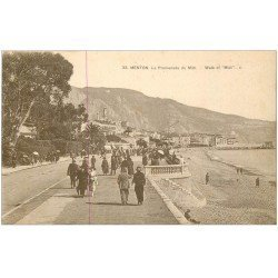carte postale ancienne 06 MENTON. La Promenade du Midi