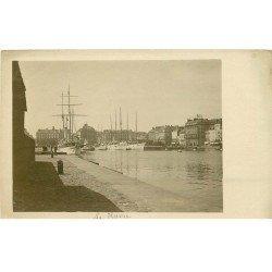 carte postale ancienne 76 ROUEN. Carte prototype pour carte postale. Voiliers Yachts