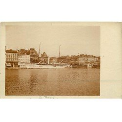 carte postale ancienne 76 ROUEN. Carte prototype pour carte postale. Yacht