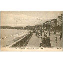 carte postale ancienne 06 MENTON. La Promenade du Midi 1924