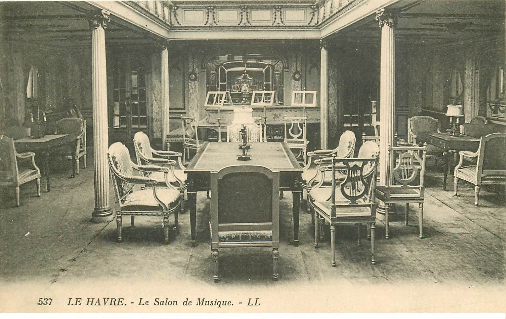 76 rouen salon de musique for Salon carte postale