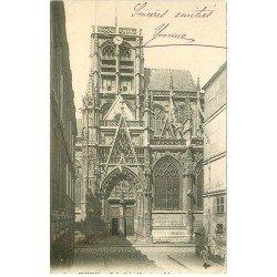 carte postale ancienne 76 ROUEN. Promotion : Eglise Saint-Vincent vers 1900