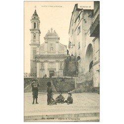 carte postale ancienne 06 MENTON. L'Eglise de Conception