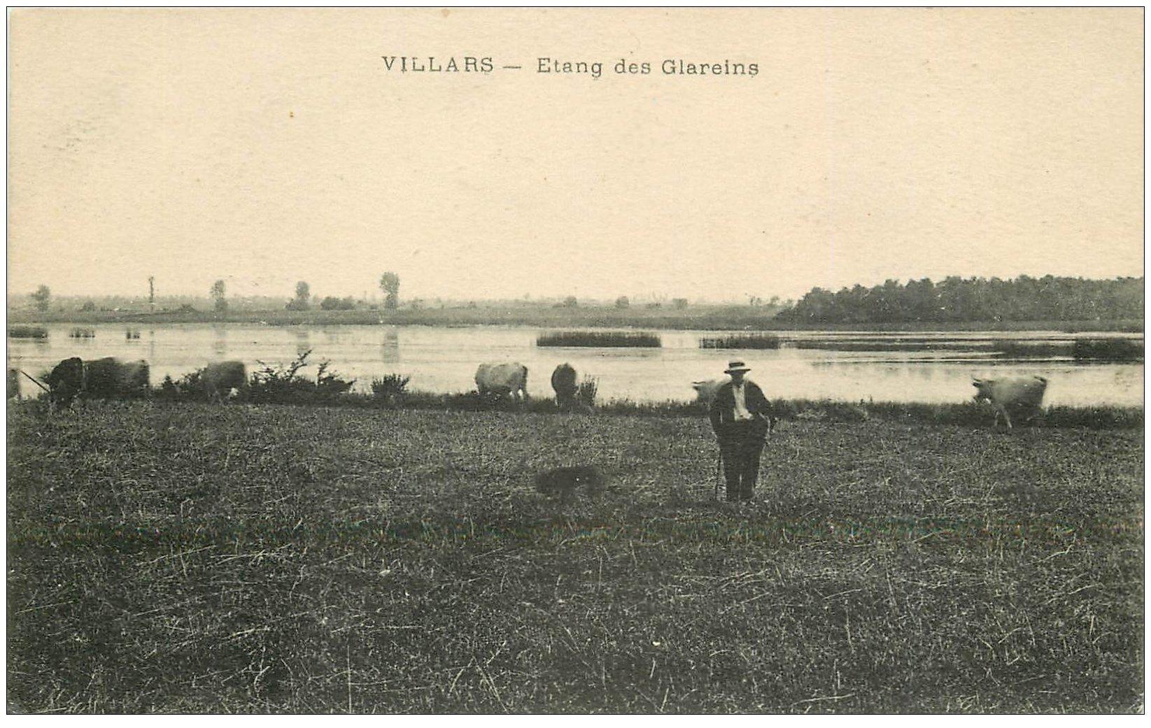carte postale ancienne 01 VILLARS. Etang des Glareins