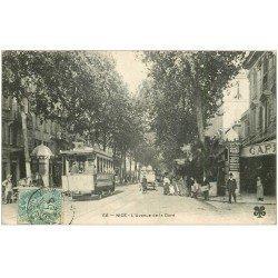 carte postale ancienne 06 NICE. Avenue de la Gare 1906