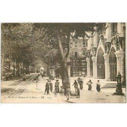 carte postale ancienne 06 NICE. Avenue de la Gare 1926