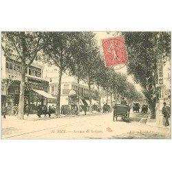 carte postale ancienne 06 NICE. Avenue de la Gare. 1907 Le Petit Niçois