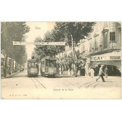 carte postale ancienne 06 NICE. Avenue de la Gare. Festival de Saint-Etienne 1915