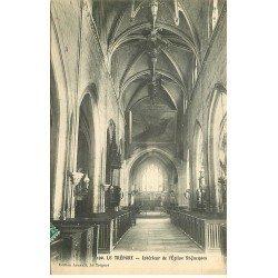 carte postale ancienne 76 LE TREPORT. Eglise Saint-Jacques 1912 intérieur