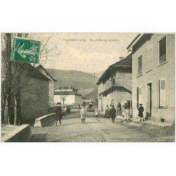 carte postale ancienne 01 VILLEBOIS. Rue du Groupe Scolaire 1910