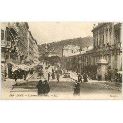 carte postale ancienne 06 NICE. Avenue Félix Faure 1918