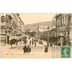 carte postale ancienne 06 NICE. Avenue Félix Faure 1922.