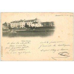 carte postale ancienne 44 ANCENIS. Le Collège vers 1900. Voir coins...