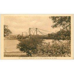 carte postale ancienne 44 ANCENIS. Le Pont Suspendu