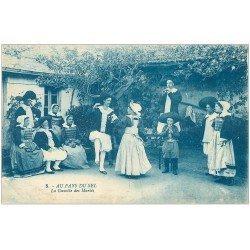 carte postale ancienne 44 AU PAYS DU SEL. La Gavotte des Mariés 1923. Danse et Musiciens