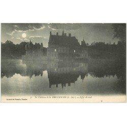 carte postale ancienne 44 Château de Bretèche. De nuit