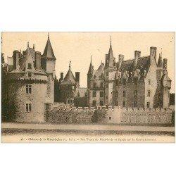 carte postale ancienne 44 Château de Bretèche. Tours Pont-Levis