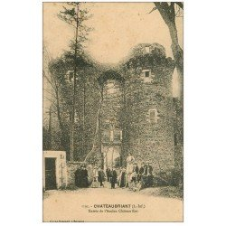 carte postale ancienne 44 CHATEAUBRIANT. Entrée Château-Fort
