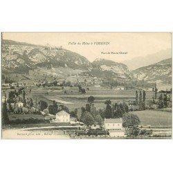 carte postale ancienne 01 VIRIGNIN. Vallée du Rhône et Fort de Pierre Chatel 1916