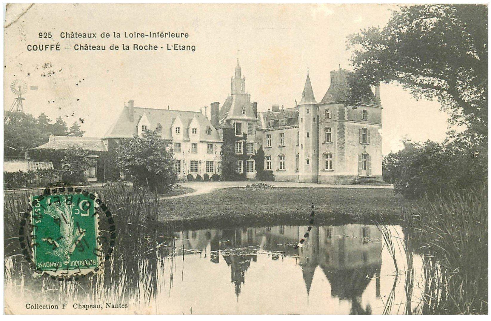 carte postale ancienne 44 COUFFE. Château de la Roche 1914